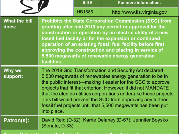 ALERT: Renewables First bill to be heard in House Commerce & Labor Subcommittee #3 Thu. Jan. 24.