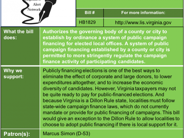 ALERT: Public Campaign Finance Options in House Privileges and Elections Subcommittee #2 Thu. Jan. 24!
